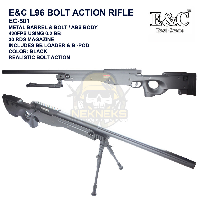 EC-501) E&C L96 BOLT ACTION RIFLE – Nek Nek