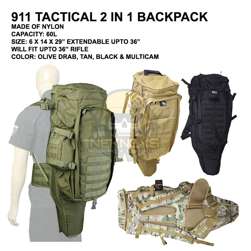 911 TACTICAL 2 IN 1 BACKPACK